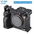 VIJIM CA-02 Алюминий сплав Камера клетка для sony A7R4 sony A7R Характеристическая вязкость полимера с креплением для вспышки «Холодный башмак Arri с отве...