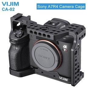 Image 1 - VIJIM CA 02 アルミ合金カメラケージソニー A7R4 ソニー A7R iv コールドシューマウント Arri ポジショニング穴 1/4 3/8 スレッド