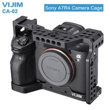 Клетка для камеры VIJIM, из алюминиевого сплава, для Sony A7R4, Sony A7R iv, с креплением для холодной обуви, с отверстием для позиционирования Arri, 1/4/3/8 нить