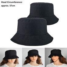 Мода Сплошной Цвет Ведро Шляпы Женщины Мужчины На Открытом Воздухе Ведро Шляпа Крышка Женщин Унисекс Хип-Хоп Бейсболки Шляпа Рыболова