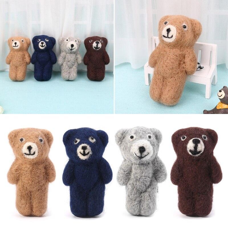 Newborn Photography Props Accessories Felt Knit Teddy Bear Infant Handmade Toy 634F