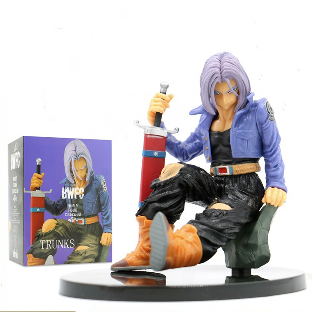 Dragon Ball Z Trunks BWFC Anime Action <font><b>Figures</b></font> Toys for Children Figurine Collector Goku <font><b>Dragonball</b></font> Torankusu Super Saiyan Figma image