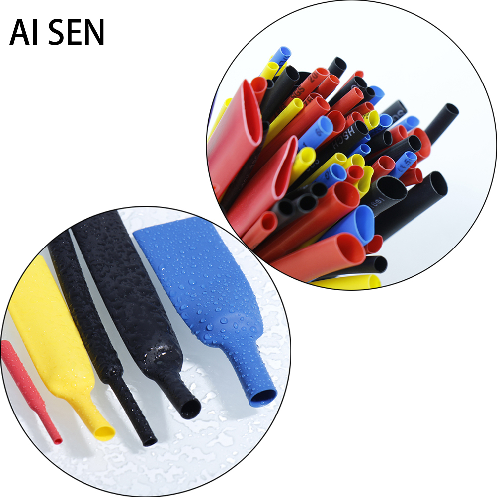 Insulated Bushing Data Line Repair Protection PE Heat Wire Shrinkable Cable Tube Kits Assorted Can Seal Waterproof