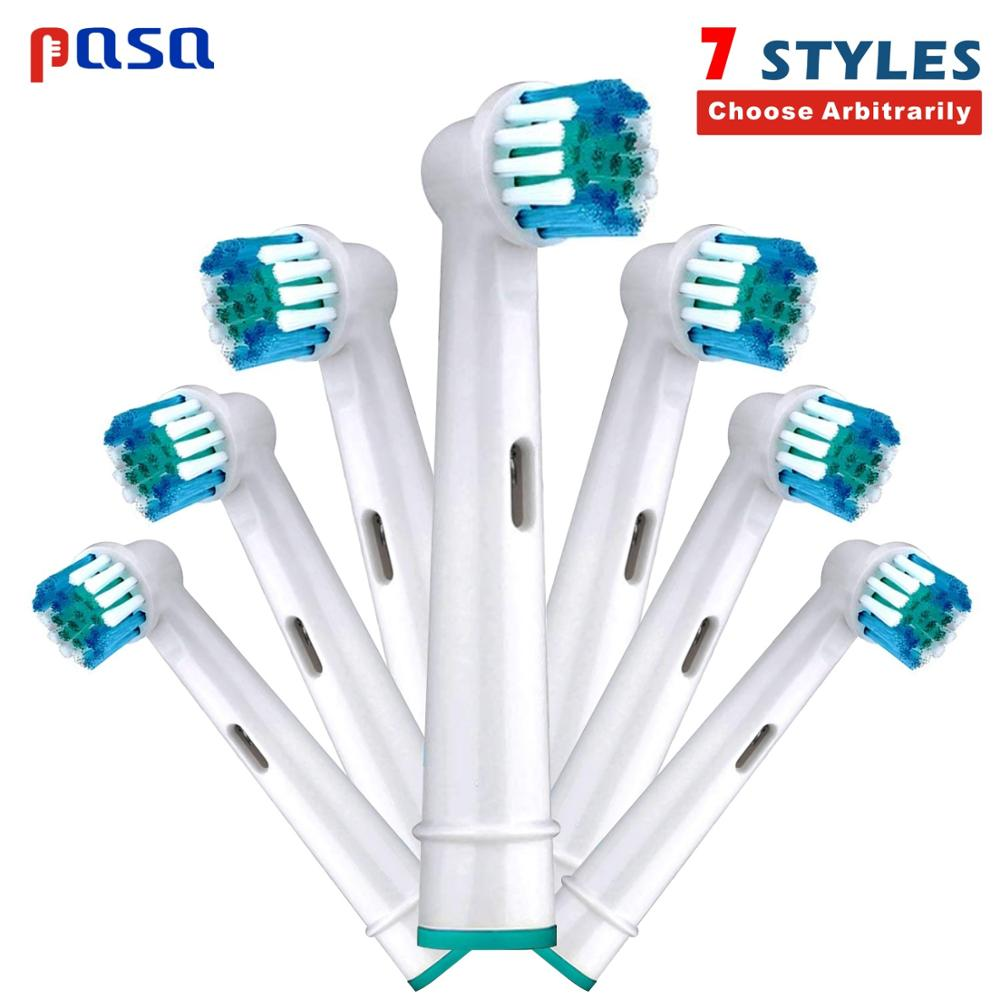 4/8pc Replacement Toothbrush Heads for Oral B Cross Floss Action Precision Soft Bristle Electric Tooth Brushes Head 3D Precision image