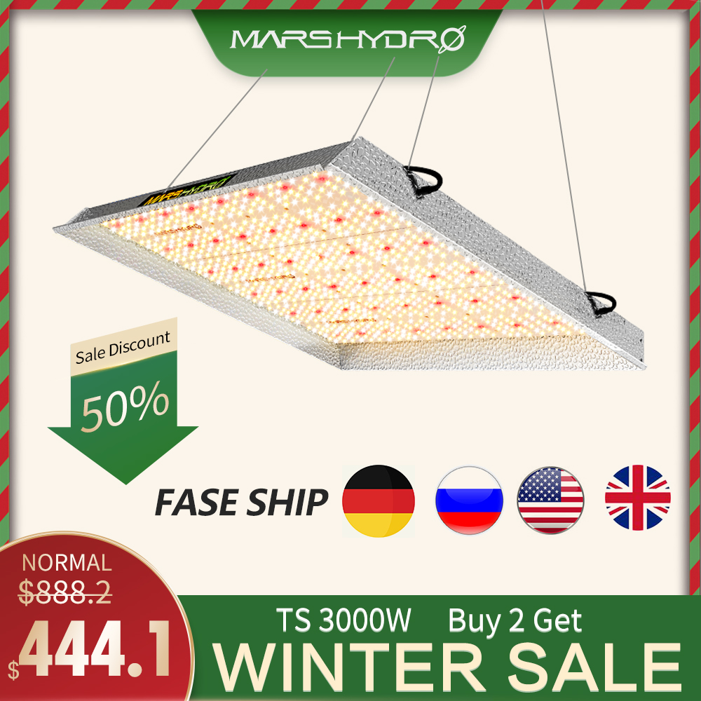 Mars hydro TS 3000W led grow light Volledige Spectrum Sunlike Indoor Quantum Board groeien lamp Greenhouse grow tent voor planten