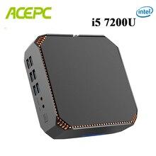 CK2 Intel Core мини-ПК DDR4 Win10 Настольный ПК Kaby Lake Core i5 7200U 7300U 2 ядра 4K 4 потока 2,5 ГГц Linux Windows игровой ПК