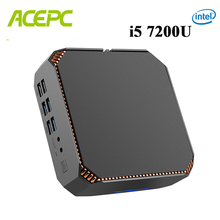 CK2 Intel Core מיני מחשב DDR4 Win10 שולחן העבודה מחשב Kaby אגם Core i5 7200U 7300U 2 ליבות 4K 4 אשכולות 2.5GHZ לינוקס Windows משחקי מחשב