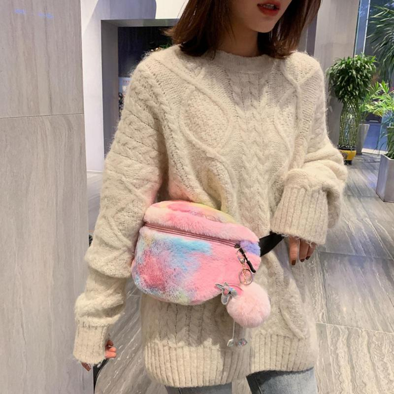 Wool Belt Bag Fashion Phone Waist Packs Pure Color Female Women Designer Pack Shoulder Messenger Belt Chest Bags Bolsas Feminina