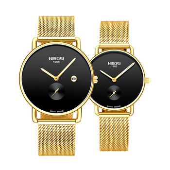 NIBOSI Couple Watch Mens Watches Top Brand Luxury Quartz Watch Women Clock Ladies Dress Wristwatch Fashion Casual Lovers Watch couple watches for lovers luxury wood watch mens fashion wooden women dress clocks gifts for valentine s day relogio de casal