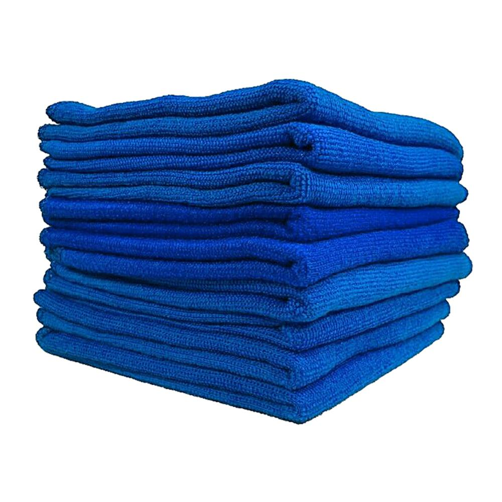 100pcs Blue Microfiber Car Cleaning Towel No-Scratch Rag for Car Cleaning Washable Quick Dry  Super Absorbent Car Washing Towels
