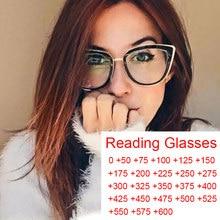 Übergroßen Legierung Klar Gläser Für Frauen Blau Licht Lesen Presbyopie Brille Vintage Cat Eye Elegante Brillen Rahmen Schwarz