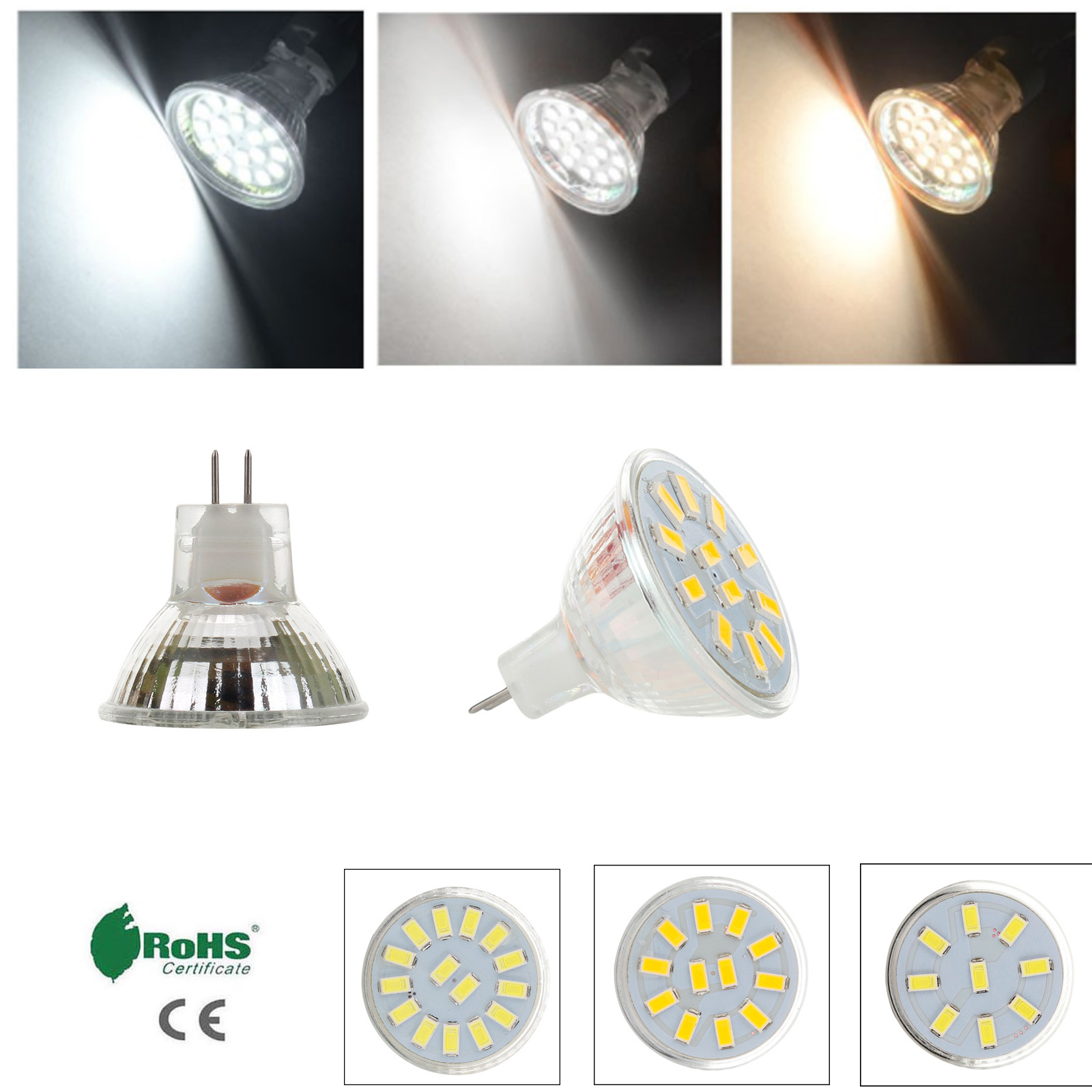 LED Spotlight Bulbs MR11 12V-24V 5730 SMD 2W 3W 4W LED Lamp Replace 15W 20W Halogen Lamps Energy Saving For Home Office Decor