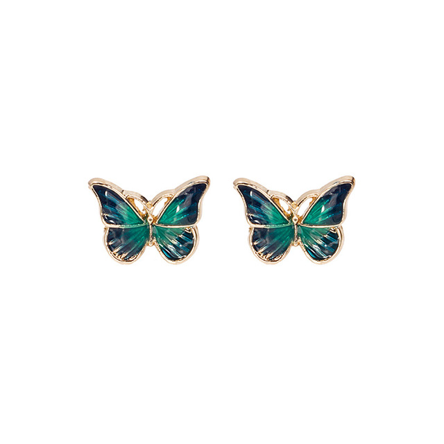 Cute Green Enamel Butterfly Stud Earrings Delicate Gold Color Mini Ear Studs Trendy Women Ear Nails.jpg 640x640 - Cute Green Enamel Butterfly Stud Earrings Delicate Gold Color Mini Ear Studs Trendy Women Ear Nails Jewelry Gift