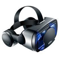 Vr capacete óculos 3d realidade virtual suporte 0-800 miopia fone de ouvido óculos binóculos para iphone 12 12pro huawei p40 pro