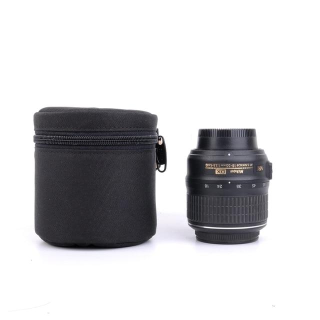 7.5x9cm Camera Lens Pouch Lens Case Bag for 18 55mm 50mm f/1.8  35mm Canon Nikon