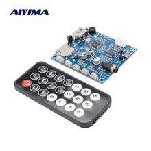 AIYIMA Bluetooth 5.0 güç amplifikatörü kurulu 2x3W Stereo Bluetooth ses alıcısı MP3 dekoder desteği U Disk TF kart FM radyo