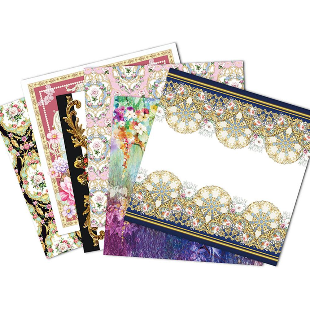 24 Sheets 6 Inch DIY Album Scrapbook Pads Paper Christmas Pattern Paper Photo Album Decorative Paper Card Background Paper