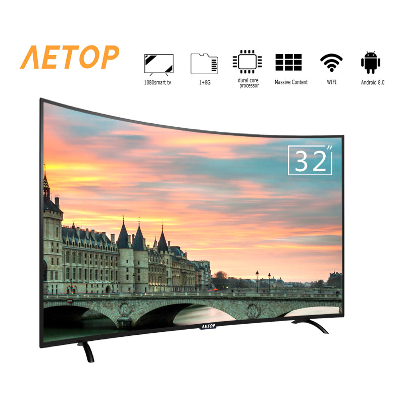 Free shipping-matrix tv 32 inch tv smart television led curved screen tv android  with wifi