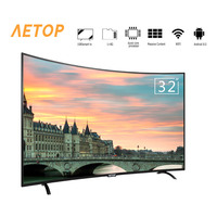 Free shipping matrix tv 32 inch tv smart television led curved screen tv android with wifi