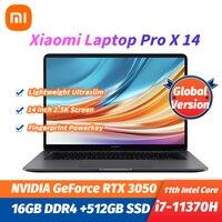 2021 New Xiaomi Laptop Pro X 14 Intel Core i7-11370H RTX3050 16G LPDDR4+512GB SSD 14inch 2.5K 120Hz Screen Slim Win10 Notebook 1