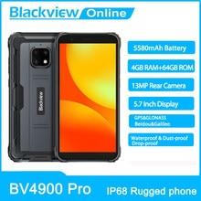 Blackview-teléfono inteligente BV4900 Pro, resistente al agua IP68, 4GB + 64GB, 5580mAh, cámara de 13MP, 5,7 pulgadas, 4G