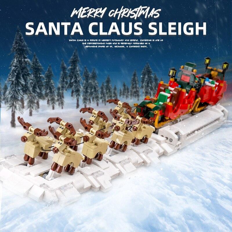 Mould King 10015 The MOC-32342 Christmas Santa Sleigh Model