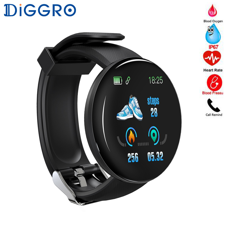 2019 Smart Watch Women Men D18 Heart Rate Monitor Blood Pressure Waterproof Smartwatch Watch Sport Fitness Tracker Watch D18