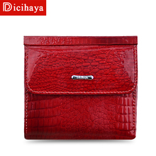 DICIHAYA Mini Wallet Women Genuine Leather Wallets With Coin Bag Allig