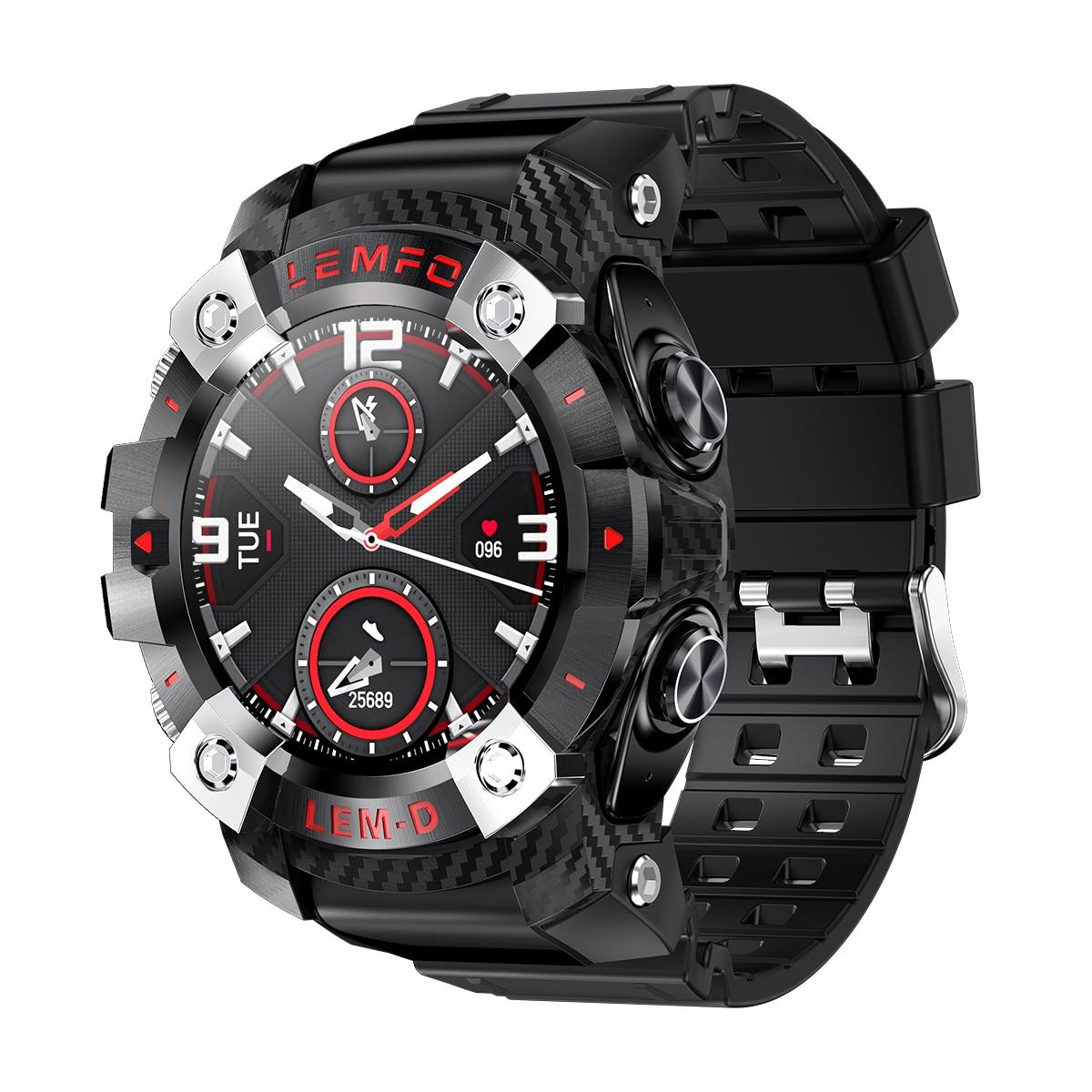 H97ecd9ece5684b1db73bf2fa47fb7cebD LEMFO LEMD Smart Watch Wireless Bluetooth 5.0 Earphone 2 In 1