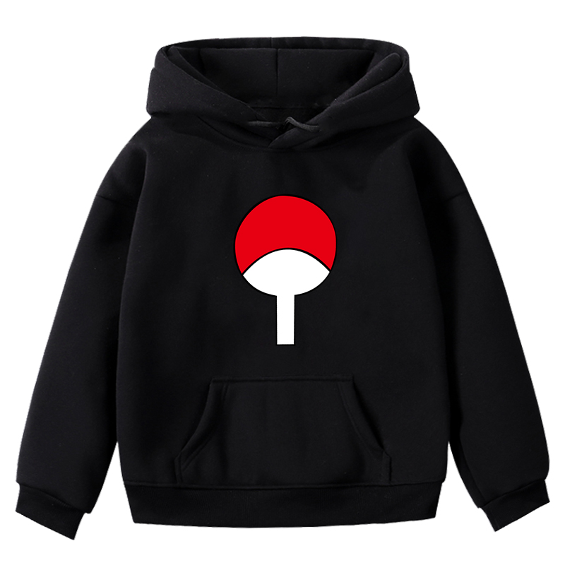 Children Boy Girls Sweatshirt Fashion Naruto Print Hoodies Autumn Winter Thickened Sweatshirts Casual Blouse Kid Long Sleeve Top