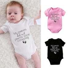 Милый комбинезон для новорожденных одежда маленьких девочек