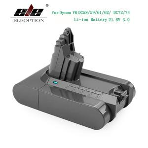 Image 1 - 3000mAh 21.6V 3.0 Li ion pil için Dyson V6 DC58 DC59 DC61 DC62 DC74 SV09 SV07 SV04 965874 02 elektrikli süpürge pil ve 2.2mAh