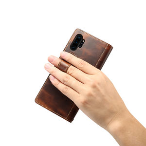 Image 2 - עבור Coque סמסונג הערה 20 במיוחד S20 בתוספת הערה 10 S10 אמיתי עור Flip ארנק אצבע רצועת גריפ כיסוי מקרה עבור Samsung S20 Funda