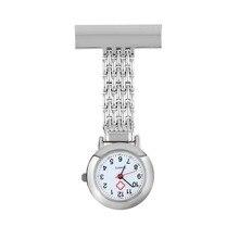 OUTAD медсестра карман часы нержавеющая сталь арабский цифры кварц брошь доктор медсестра карман брелок часы