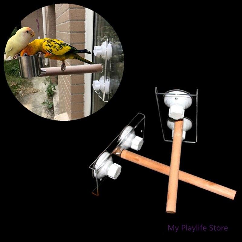 Pet Birds Parrot perches, держатель для игрушек, Деревянная опора, переносная автомобильная подставка для купания с присоской, игрушка для попугаев C42 Игрушки для птиц      АлиЭкспресс