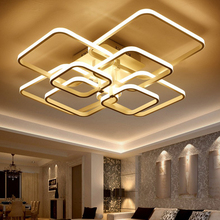 Square LED Modern Chandelier Lights with Remote Control Acrylic Lights For Living Room Bedroom Home Chandelier Ceiling Fixtures