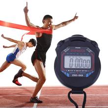 Timer Stopwatch Chronograph-Counter Digital Waterproof Sports Handheld LCD with Strap