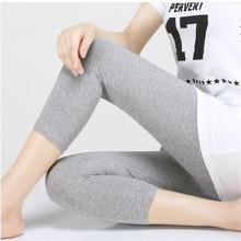 Leggings XS 7XL Summer Legings Women 3/4 Short Legging Pants Thin Women Large Size Stretch Grey Black White Pink 6XL 5XL 4XL 3XL