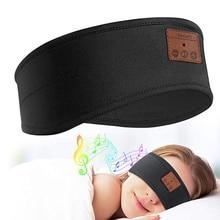 Bluetooth 5.0 שינה אוזניות בגימור אלחוטי נטענת אלסטי רך מוסיקה אוזניות עין כובעים עבור ספורט שינה