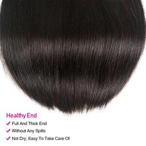 Image 5 - Unice cabelo malaio extensão do cabelo reto 8 30 Polegada cor natural feixes de cabelo humano 100% remy tecer cabelo 1/3/4 peças
