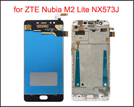 "5.5"" Quality IPS LCD Display for ZTE Nubia M2 Lite NX573J LCD Display Touch Screen Digitizer Replacement Assembly with Frame(China)"
