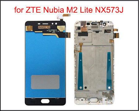"""5.5"""" Quality IPS LCD Display for ZTE Nubia M2 Lite NX573J LCD Display Touch Screen Digitizer Replacement Assembly with Frame"""