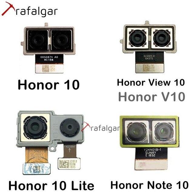 สำหรับHuawei Honor 10 ดู 10 V10 หมายเหตุ 10 กล้องด้านหลังคู่ขนาดใหญ่สำหรับHonor 10 Liteกลับโมดูลกล้องFLEX CABLEเปลี่ยน