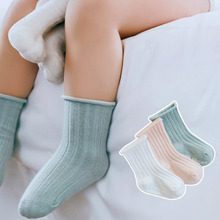 3 Pairs/Lot Infant Baby Socks Non-slip Socks Newborn Infant Baby Girls Boys Toddlers Cotton Solid Cute Summer Autumn Floor Socks 5 pairs lot infant baby socks summer non slip socks newborn baby girls boys toddlers cotton bebe cartoon fashion cute floor sock
