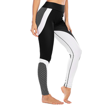2020 Women Leggings High Waist Casual Net Print Patchwork Ladies Trousers Fashion Polka Dot Sport Leggings high waist polka dot print trumpet pants