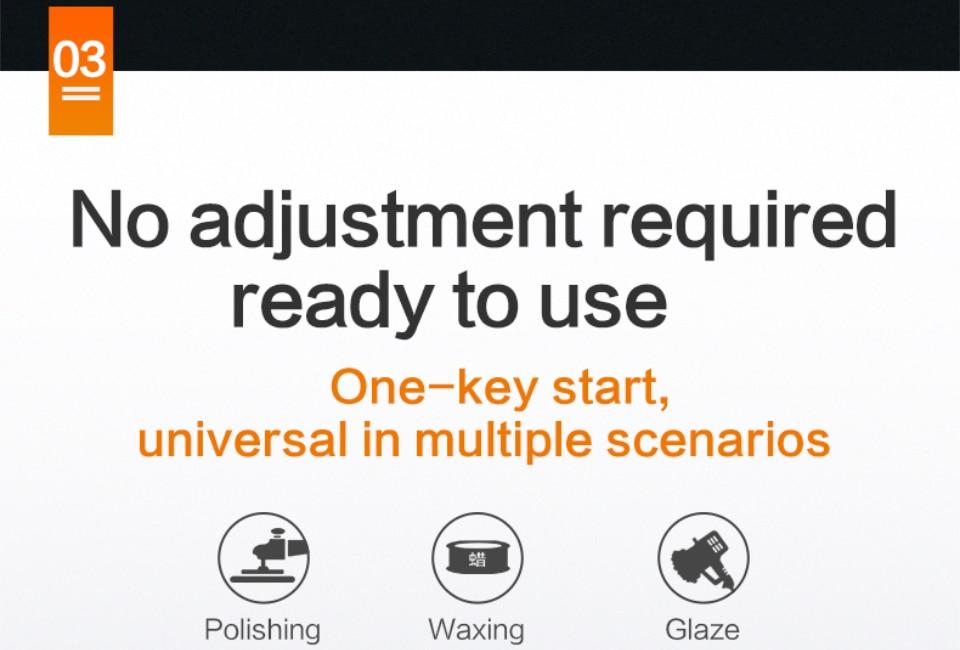 No adjustment required one key start