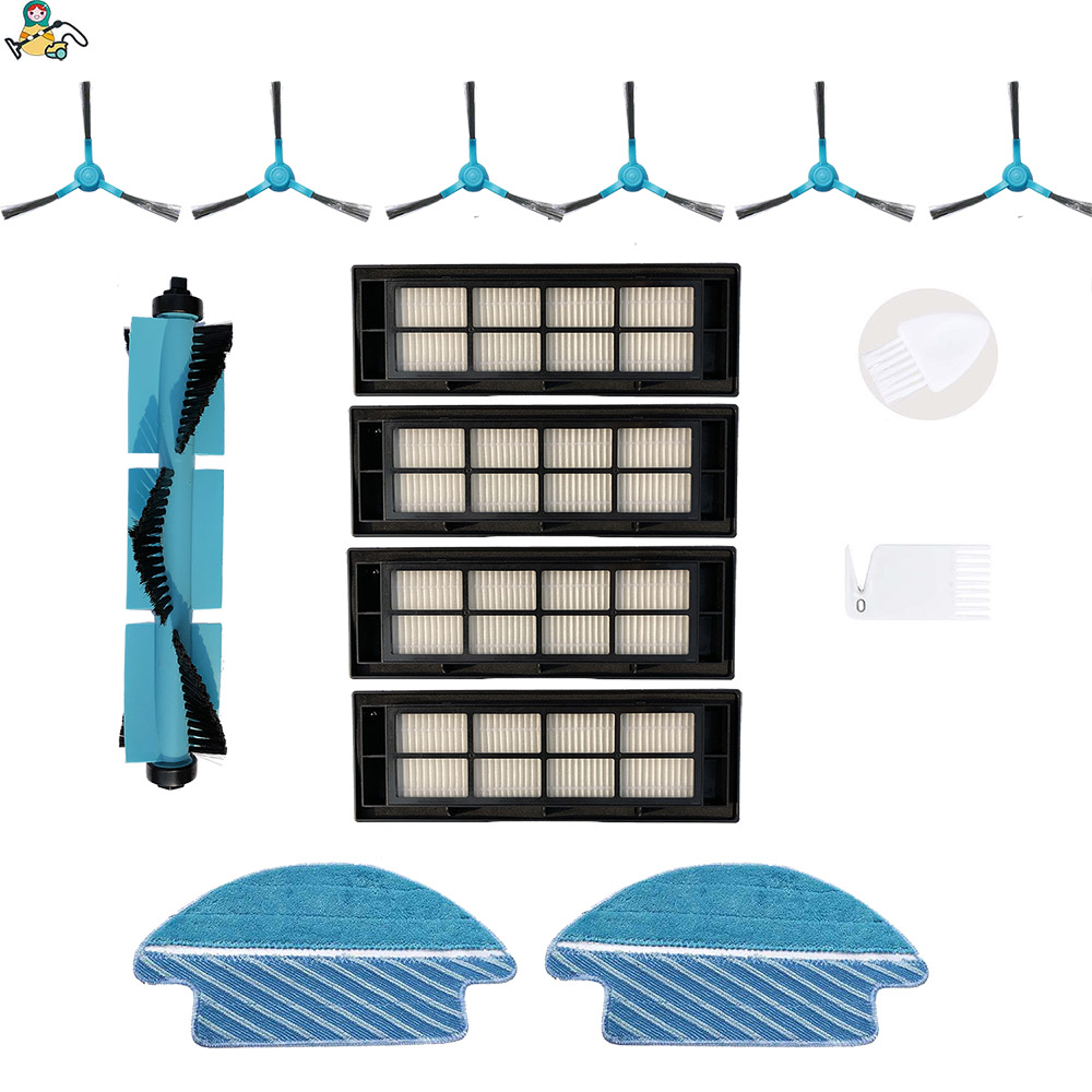 CLEAN DOLL Main Brush Side Brushes Mop Cloth Pad Rag Air Filter  For Cecotec Conga 3090 Brush  Vacuum Cleaner Accessories