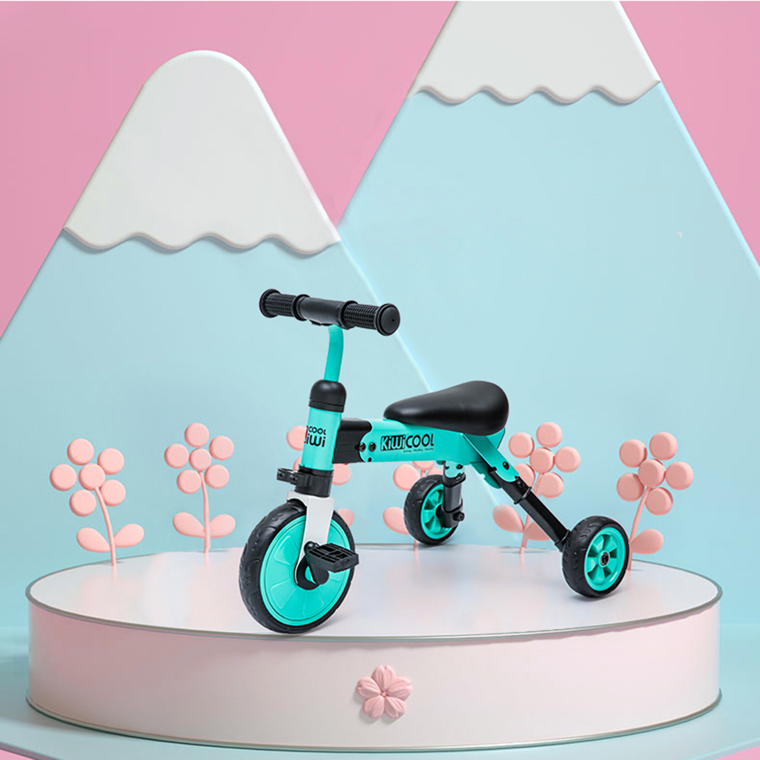 2 in 1 Carbon Steel Kids Tricycles Folding Lightweight Trike Baby Outdoor Riding Bicycle for 1 Innrech Market.com