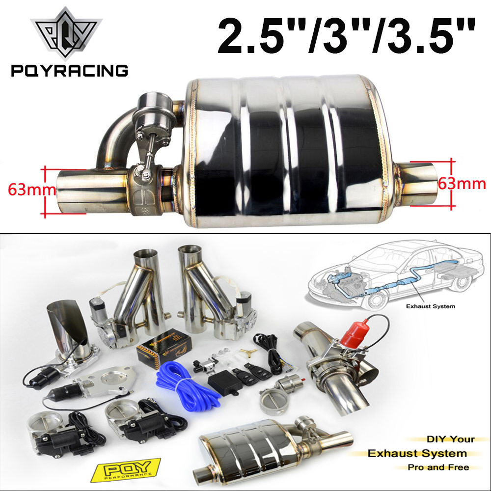 "3.5/"" Dual Flat Tip 2.5/"" Inlet Stainless Exhaust Muffler Silencer Universal 3"