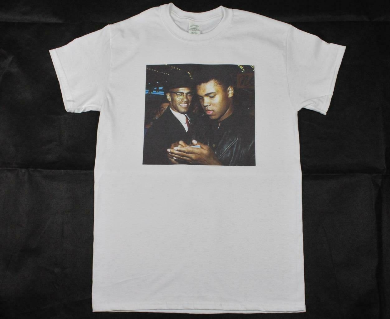 T-shirt Malcolm X mohammad Ali S Xxxl, Droits urbains, Boxe, Mlk Blm, Vintage